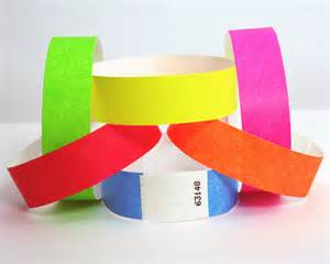 Tyvek Wristbands from About Face Solutions Ltd