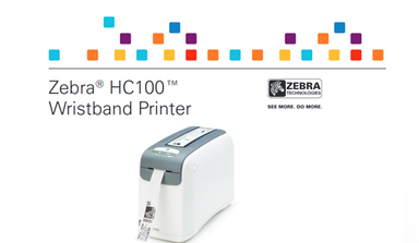 Zebra HC100 Wristband Laser Printer Data Sheet