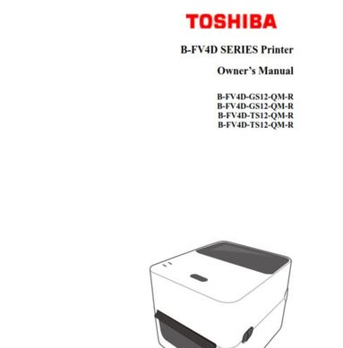 TOSHIBA B-FV4 Printer User Guide