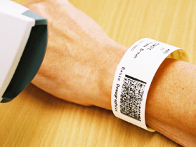 hospital wristbands from About Face Solutions